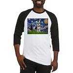 Starry Night /Schnauzer(#8) Baseball Jersey