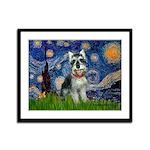 Starry Night /Schnauzer(#8) Framed Panel Print