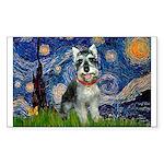 Starry Night /Schnauzer(#8) Sticker (Rectangle)