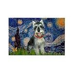 Starry Night /Schnauzer(#8) Rectangle Magnet (10 p