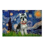 Starry Night /Schnauzer(#8) Postcards (Package of