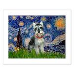 Starry Night /Schnauzer(#8) Small Poster