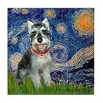 Starry Night /Schnauzer(#8) Tile Coaster