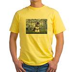 Lilies (#6) & Schnauzer #7 Yellow T-Shirt
