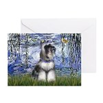 Lilies (#6) & Schnauzer #7 Greeting Cards (Pk of 1
