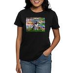 Lilies (#2)/Schnauzer Pup Women's Dark T-Shirt