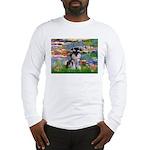 Lilies (#2)/Schnauzer Pup Long Sleeve T-Shirt