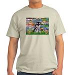 Lilies (#2)/Schnauzer Pup Light T-Shirt