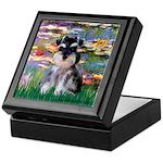 Lilies (#2)/Schnauzer Pup Keepsake Box