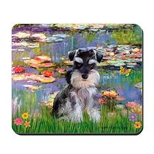 Lilies (#2)/Schnauzer Pup Mousepad