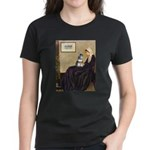 Whistler's Mother /Schnauzer Women's Dark T-Shirt