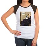 Whistler's Mother /Schnauzer Women's Cap Sleeve T-