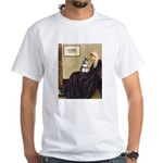 Whistler's Mother /Schnauzer White T-Shirt