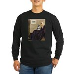 Whistler's Mother /Schnauzer Long Sleeve Dark T-Sh