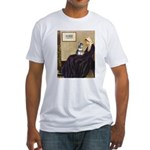 Whistler's Mother /Schnauzer Fitted T-Shirt
