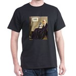 Whistler's Mother /Schnauzer Dark T-Shirt
