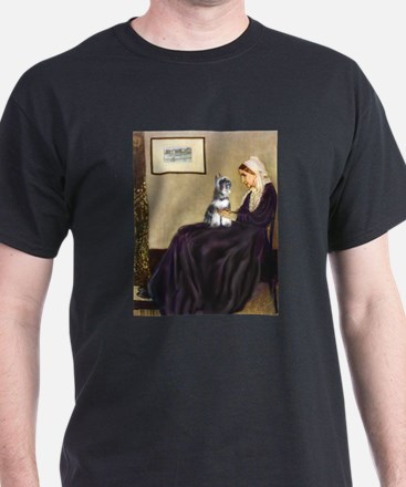 Whistler's Mother /Schnauzer T-Shirt