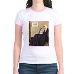 Whistler's Mother /Schnauzer Jr. Ringer T-Shirt