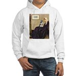 Whistler's Mother /Schnauzer Hooded Sweatshirt