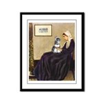 Whistler's Mother /Schnauzer Framed Panel Print