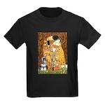 Kiss / Schnauzer (#7) Kids Dark T-Shirt