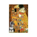 Kiss / Schnauzer (#7) Rectangle Magnet (100 pack)