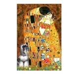 Kiss / Schnauzer (#7) Postcards (Package of 8)