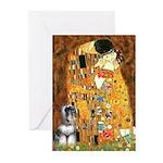 Kiss / Schnauzer (#7) Greeting Cards (Pk of 10)