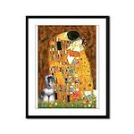 Kiss / Schnauzer (#7) Framed Panel Print