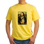 Mona Lisa's Schnauzer (#1) Yellow T-Shirt