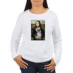 Mona Lisa's Schnauzer (#1) Women's Long Sleeve T-S