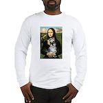 Mona Lisa's Schnauzer (#1) Long Sleeve T-Shirt