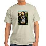 Mona Lisa's Schnauzer (#1) Light T-Shirt