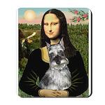 Mona Lisa's Schnauzer (#1) Mousepad