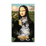 Mona Lisa's Schnauzer (#1) Sticker (Rectangle)