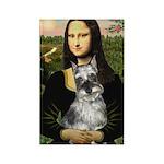 Mona Lisa's Schnauzer (#1) Rectangle Magnet (10 pa