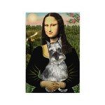 Mona Lisa's Schnauzer (#1) Rectangle Magnet