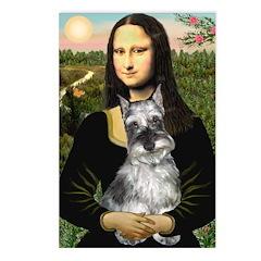 Mona Lisa's Schnauzer (#1) Postcards (Package of 8