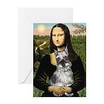 Mona Lisa's Schnauzer (#1) Greeting Card