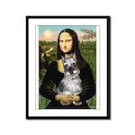Mona Lisa's Schnauzer (#1) Framed Panel Print