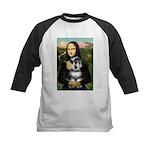 Mona Lisa's Schnauzer (#6) Kids Baseball Jersey