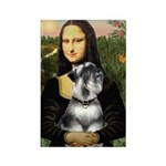 Mona Lisa's Schnauzer (#6) Rectangle Magnet (100 p