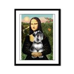 Mona Lisa's Schnauzer (#6) Framed Panel Print