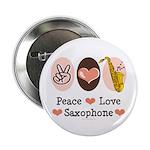 Peace Love Saxophone Sax 2.25