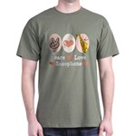 Peace Love Saxophone Sax Dark T-Shirt