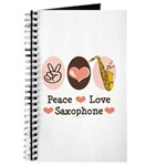 Peace Love Saxophone Sax Journal Practice Notebook