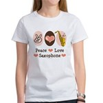 Peace Love Saxophone Sax Women's T-Shirt