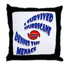 Hurricane Dennis the Menace Throw Pillow
