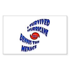 Hurricane Dennis the Menace Rectangle Decal