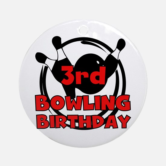 3rd Bowling Birthday Ornament (Round)